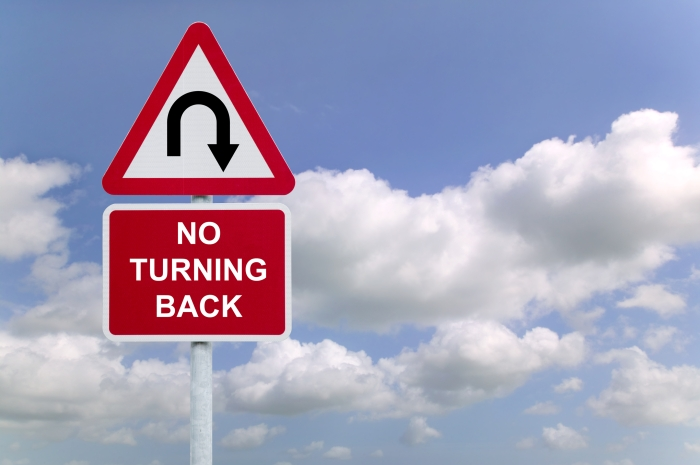 © Rtimages | Dreamstime.com - No Turning Back Sign In The Sky Photo