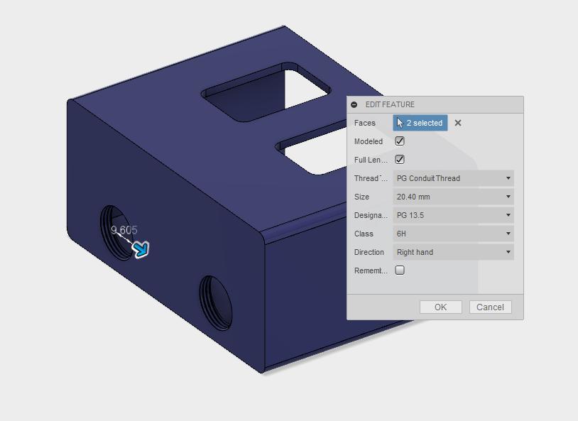 Custom Thread Definitions in Autodesk Fusion 360 – PG