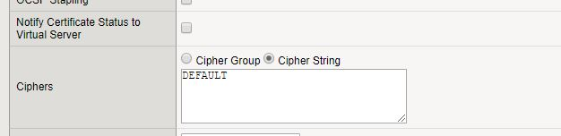 Fixing SSL Labs Grade on F5 Big-IP – Weak Cipher Suites